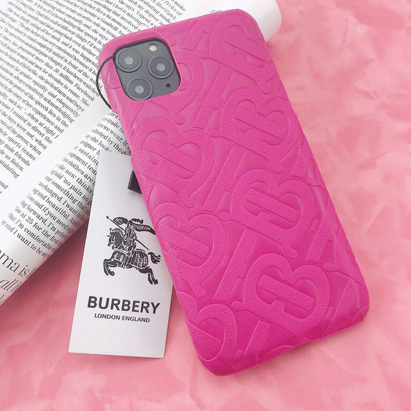 Burberry Monogram Protective Phone Case - Hot Pink V2