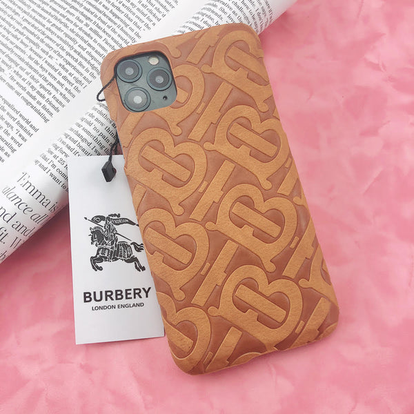 Burberry Monogram Protective Phone Case - Tan