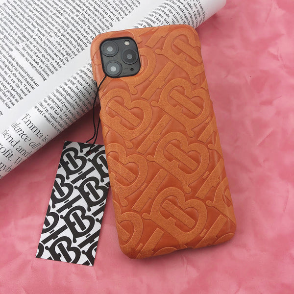 Burberry Monogram Protective Phone Case - Orange