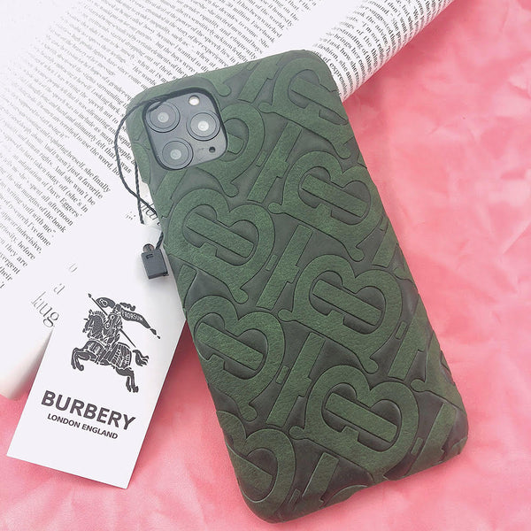 Burberry Monogram Protective Phone Case - Green