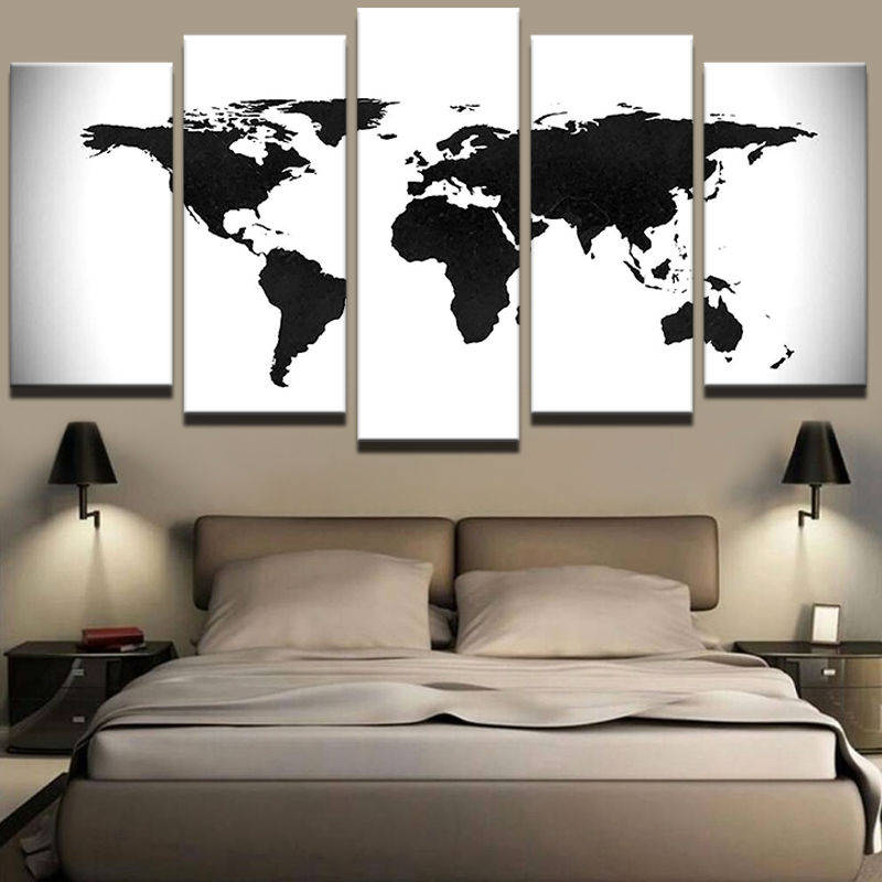 World map canvas art world map wall art large wall art white and world map canvas art world map wall art large wall art white and gumiabroncs Gallery