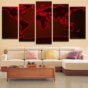 World canvas art world wall art red world map large canvas print world canvas art world wall art red world map large canvas print world gumiabroncs Image collections