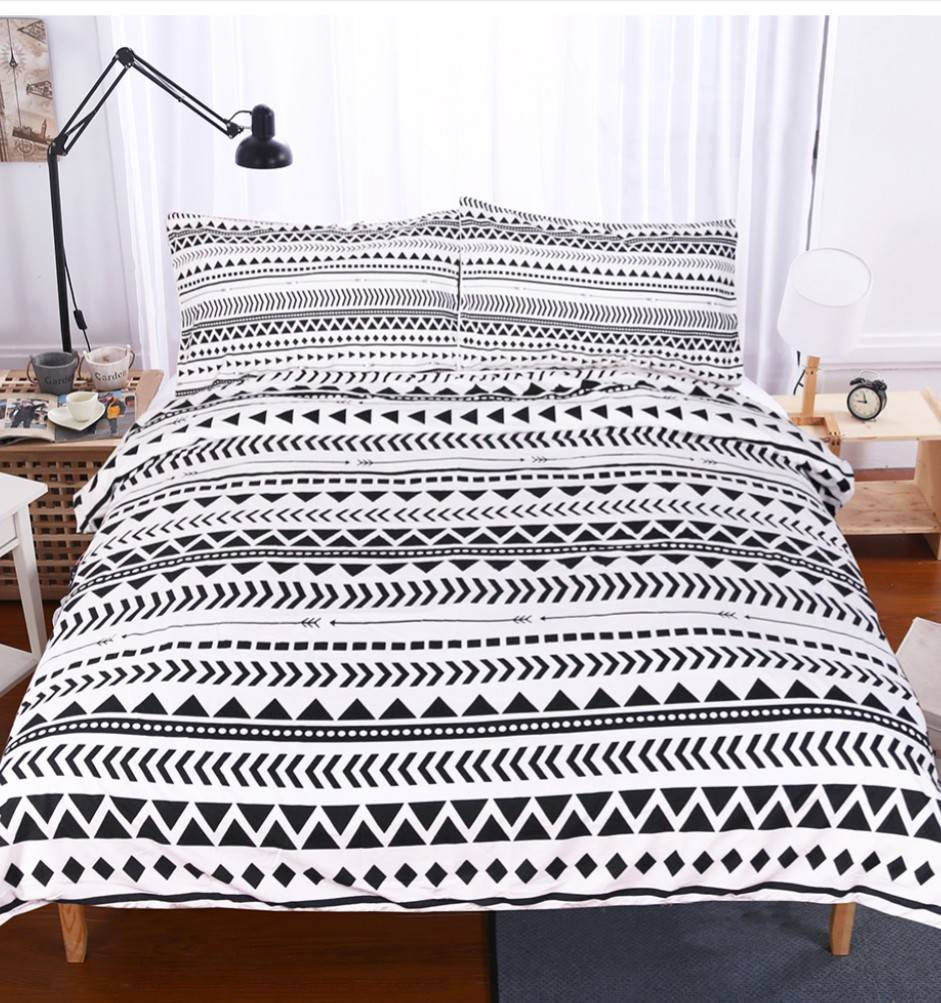 duvet pin full queen tribal set geometric striped indian tribe theme cover