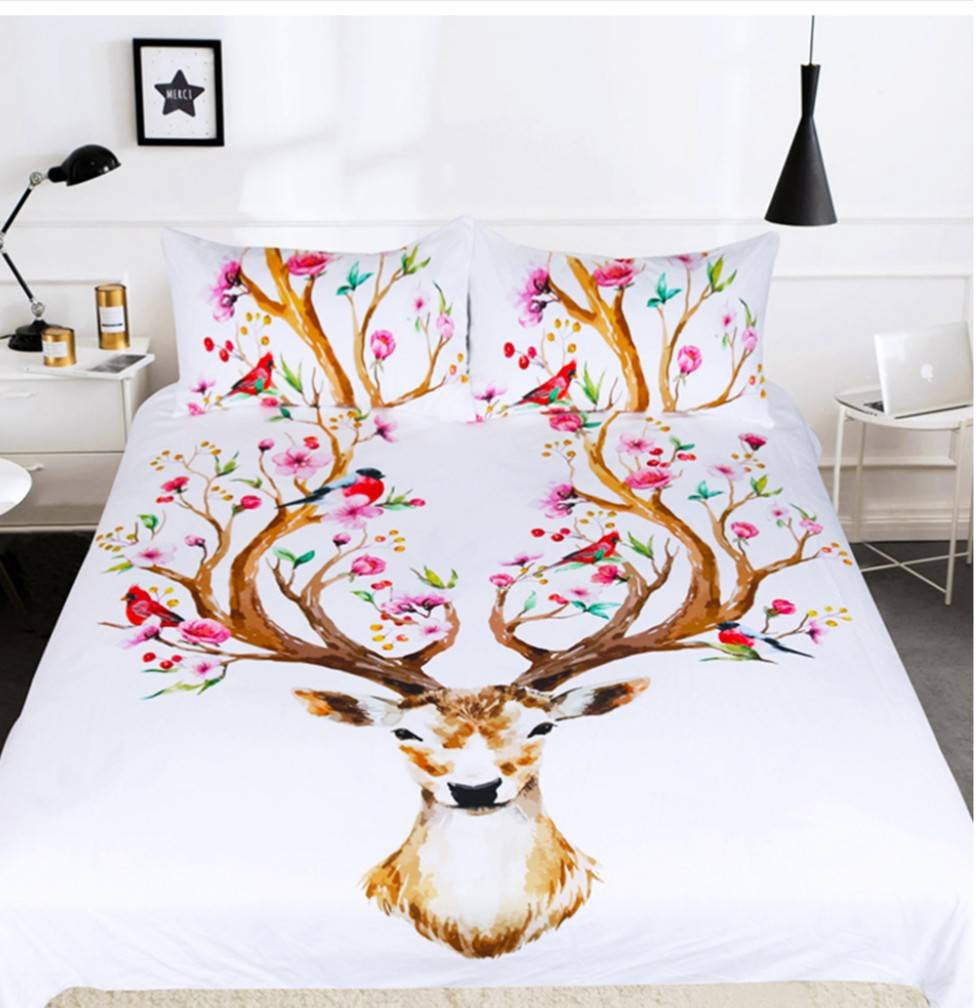 set white full sweet king fullxfull deer il bedding twin queen products duvet cover