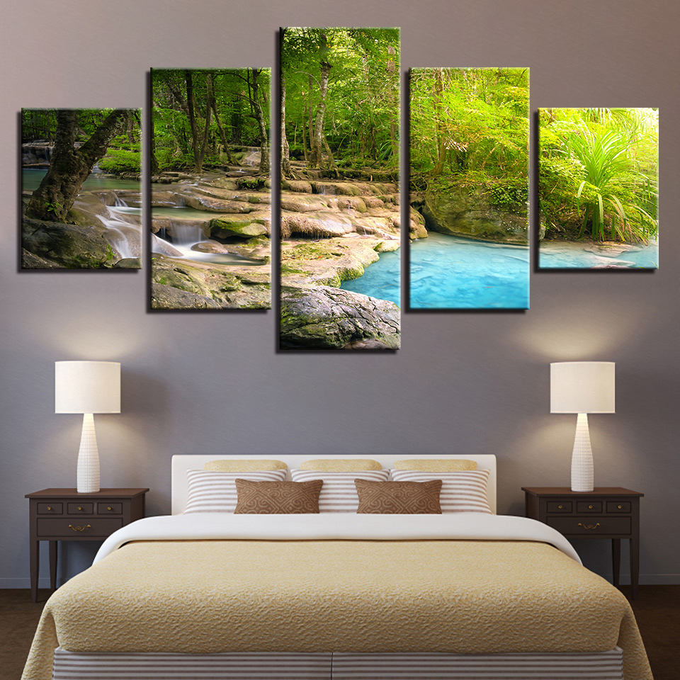 Brand new Lake Canvas Art, Lake Wall Art, Lake Landscape Wall Decor  WX33