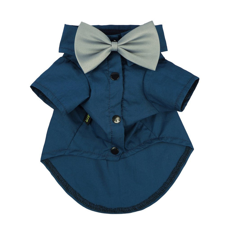 Blue Formal Tuxedo Shirt