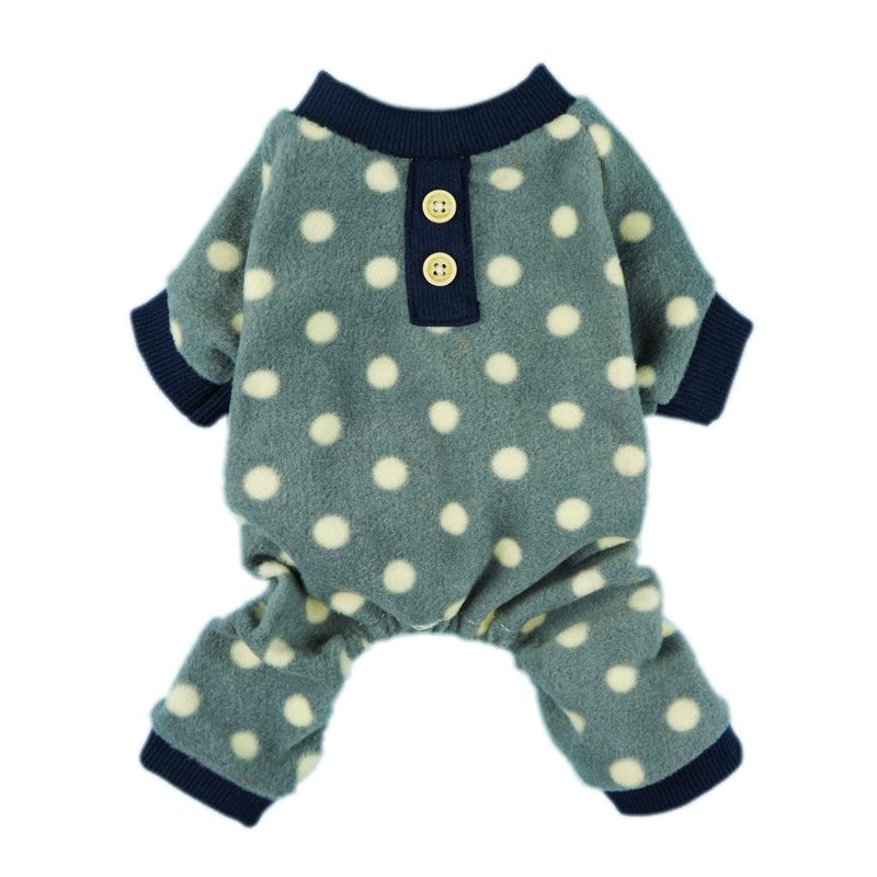 Grey Polka Dot Fleece Pajamas