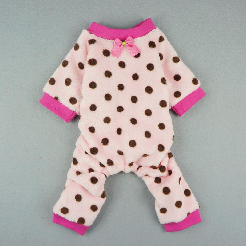 Pink Polka Dot Fleece Pajamas