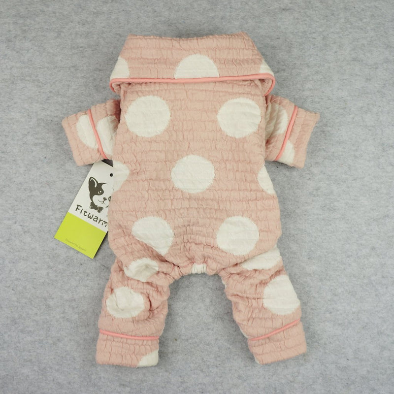 Pink Polka Dot Cotton Pajamas