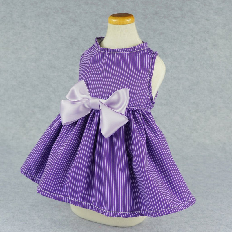 Purple Pin Striped Dress