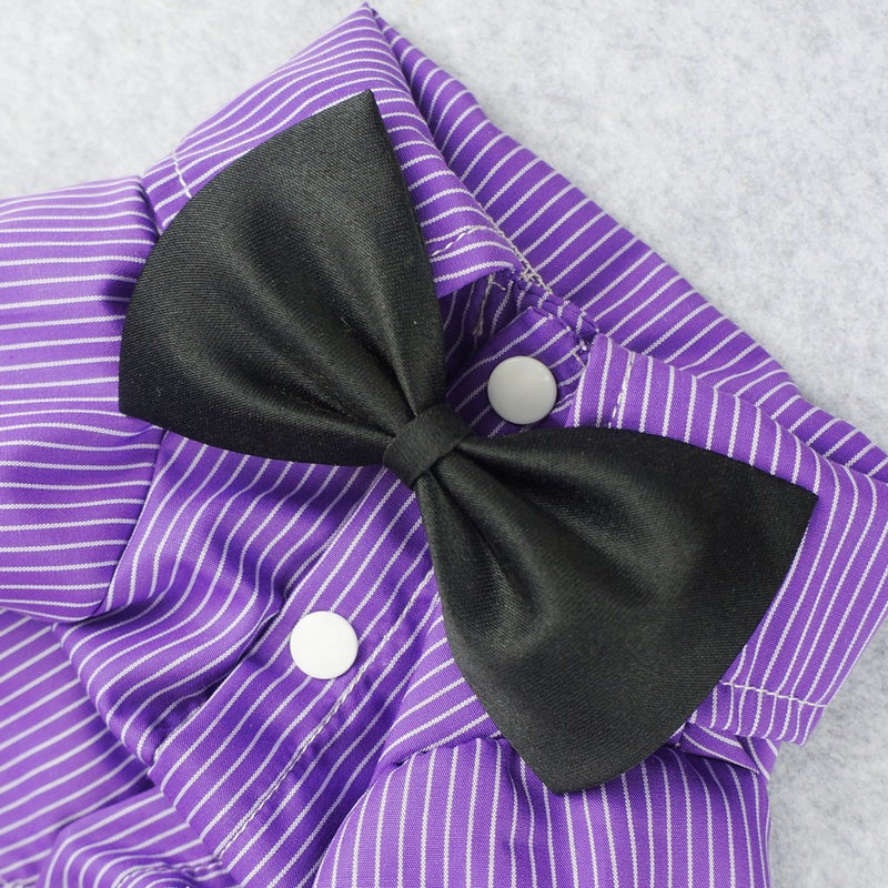 Purple Pin Striped Shirt