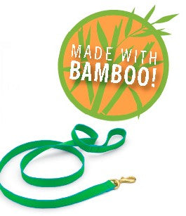 Forest and Tan Bamboo Leash