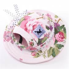 Floral Dog Bonnet