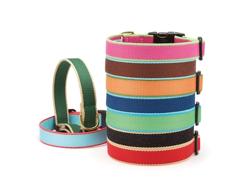 Aqua and Coral Bamboo Collar