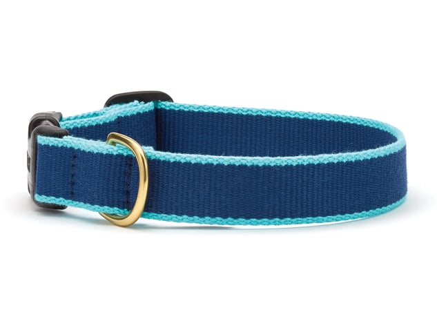 Navy and Aqua Bamboo Leash