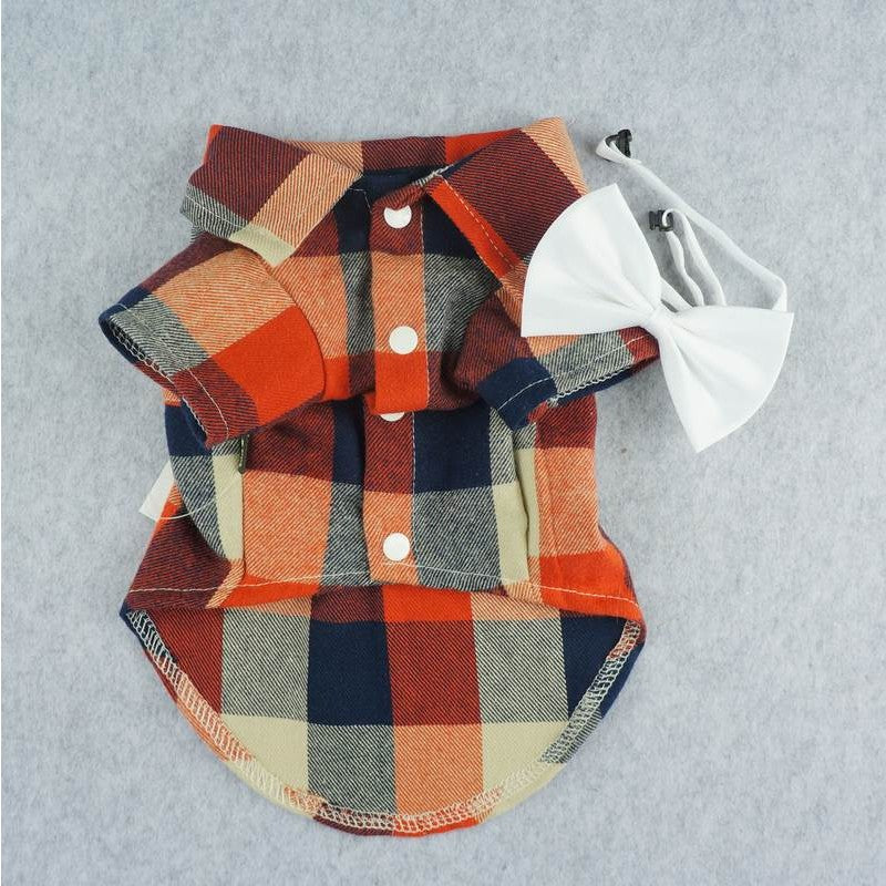 Orange & Blue Plaid Shirt