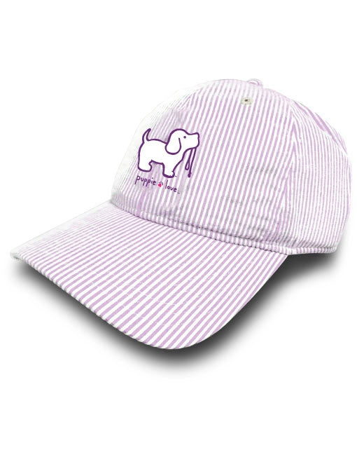 Puppie Love - Purple Seersucker Hat