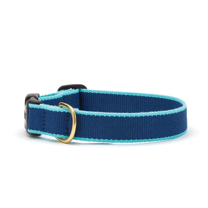 Navy and Aqua Bamboo Cat Collar