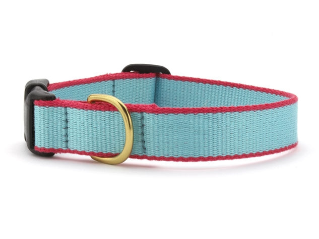 Aqua and Coral Bamboo Leash