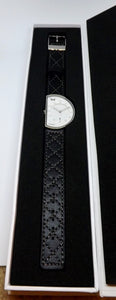 Lefty Silver Black-Wrist Watch-Edge Watch Company