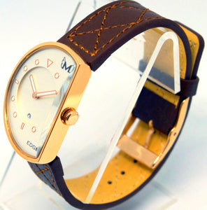 14k Rose Gold Brown-Wrist Watch-Edge Watch Company
