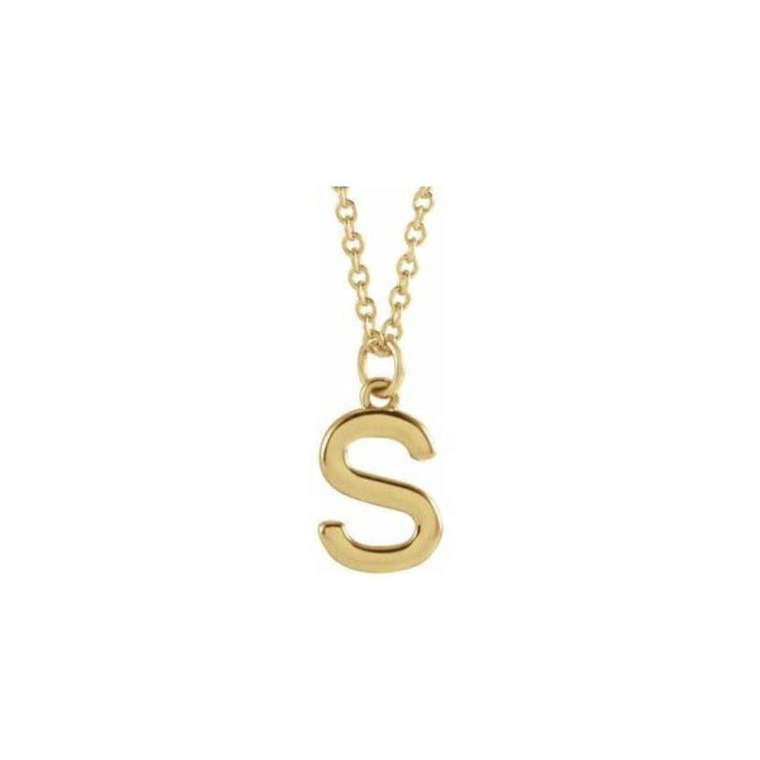 Gold Letter Necklace - Elisha Marie Jewelry