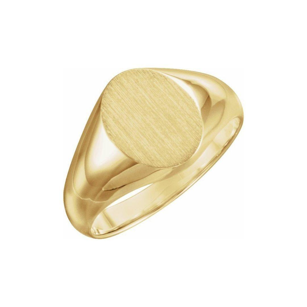 Large Oval Signet Ring - Elisha Marie Jewelry