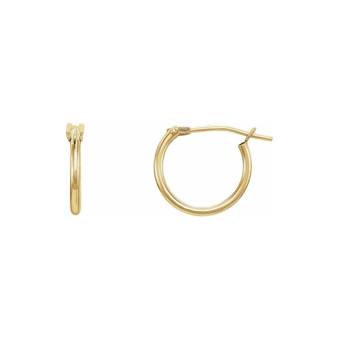 Tiny Tube Hoop Earrings