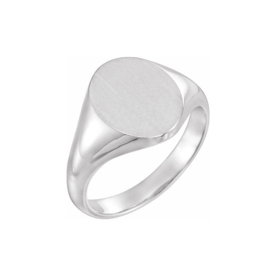 Large Oval Signet Ring