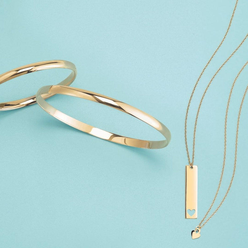 Minimal statement necklace-Turquoise