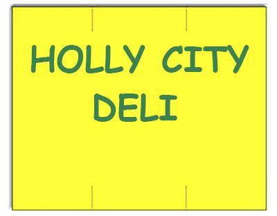 [CUSTOM] Monarch compatible 1151 Fluorescent Chartreuse Labels - Holly City Deli