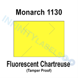 200,000 Monarch compatible 1130 Fluorescent Chartreuse Labels. Full case w/8 ink rollers.