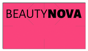 [CUSTOM] Monarch compatible 1131 Fluorescent Pink Labels - Beauty Nova Logo - 2 Cases