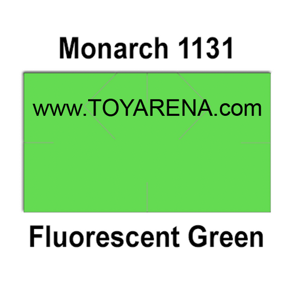 [CUSTOM] Monarch compatible 1131 Fluorescent Green Labels - Toy Arena