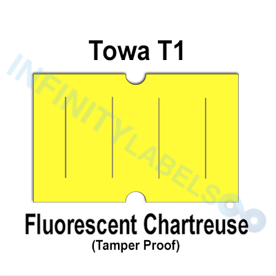 240,000 Towa 1 (GS) compatible Fluorescent Chartreuse Labels. Full case.
