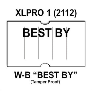 "240,000 XLPro compatible 2112 ""BEST BY"" White Labels. Full case."