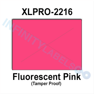 200,000 XLPro compatible 2216 Fluorescent Pink Labels. Full case w/8 ink rollers.