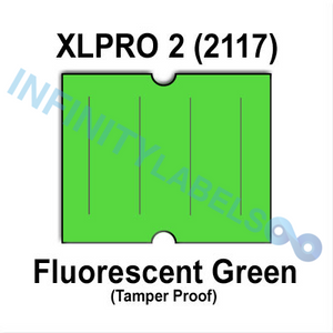 180,000 XLPro 2117 compatible Fluorescent Green Labels. Full case.