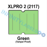 180,000 XLPro 2117 compatible Green Labels. Full case.