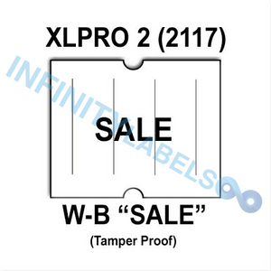 "180,000 XLPro 2117 compatible ""SALE"" White Labels. Full case."