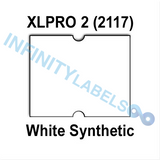 180,000 XLPro 2117 compatible White Synthetic Labels. Full case.