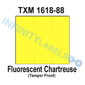 200,000 XLPro compatible 1618 Fluorescent Chartreuse Labels. Full case.