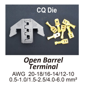 HT-2131-CQ Crimping Tool Die - CQ Die for Open Barrel Terminals AWG 20-18/16-14/12-10