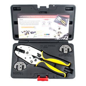 Superseal Connector Terminal Ratcheting Crimping Tool- Includes 2 Dies