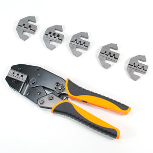 Deutsch Terminal Ratcheting Crimping Tool- Includes 6 Quick Change Dies