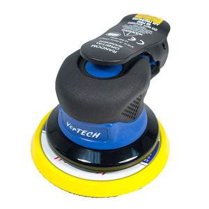 "Vertech 5"" Palm Style Air Random Orbital Sander - Composite Housing - 3/16"" Orbit"