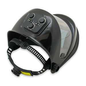 WH180B-BK - Panoramic 180 View Solar Powered Auto Darkening Welding Helmet - Black