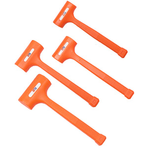 4 Pc Dead Blow Hammer Set - 1, 2, 3, 4 lb