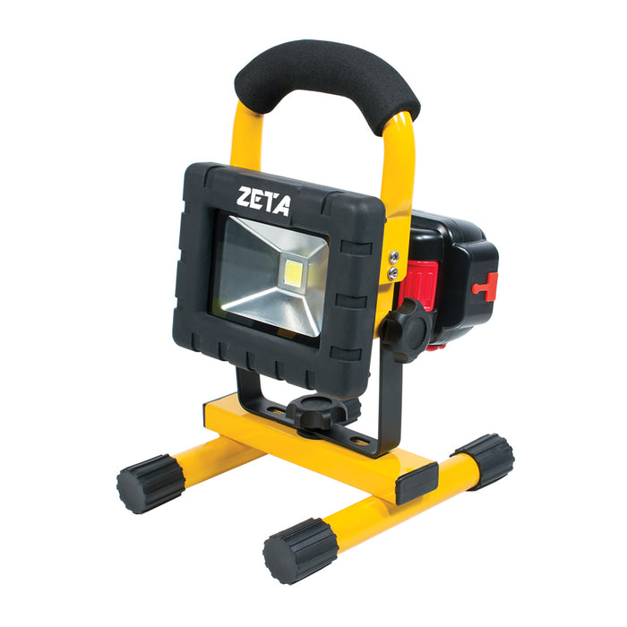 ZT50201 - 10W Cordless LED Flood Light with USB and Interchangeable Battery - ZT50201