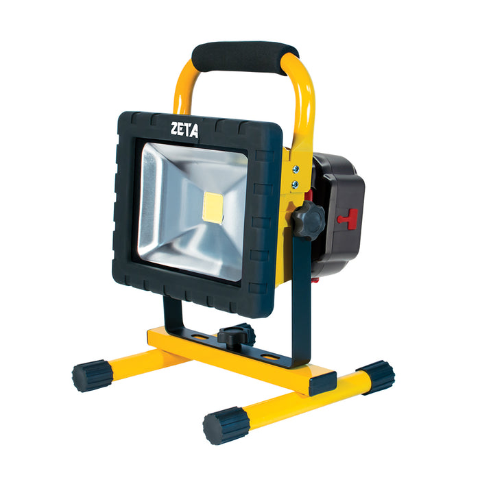 ZT50221 - 20W Cordless LED Flood Light with USB AND Interchangeable Battery- ZT50221